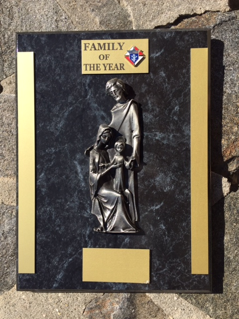 No. JC-1329 - Family Of the Year Plaque